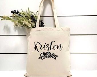 Bridesmaid Gift Tote.Maid Of HonorTote.Bridesmaid Tote Bag.Gift Bag.Mother of the Bride Gift.Flower Girl Gift.Bridal Party.Canvas Tote Bag
