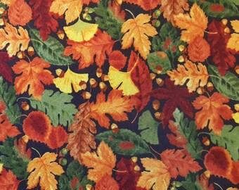 Autumn foliage dog bandana slides over the collar