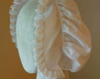 18th century Colonial Linen Cap