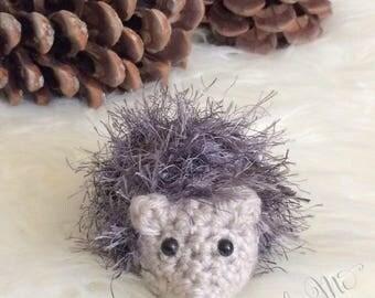 Baby Hedgehog, Crochet Hedgehog, Hedgehog Plushie, Amigurumi Hedgehog, Stuffed Hedgehog Toy, Hedgehog Photo Prop~READY TO SHIP!