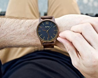 Mens Wood Watch, Personalized Wooden Watch, Engraved Wood Watch, Mens Wooden Watch, Wooden Watch, Groomsmen Gift, Wedding Gift