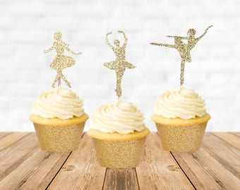 Ballerina Cupcake Topper, Ballerina Cake Topper, Ballerina Party, Ballerina Birthday, Ballerina Baby Shower, Cupcake Decorations