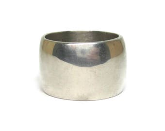 Wide 13mm Sterling Band Ring Size 6