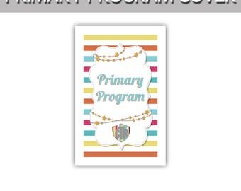 """Primary Program CTR stripes program cover 8.5""""x11"""""""