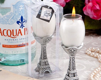 Tres Chic Eiffel Tower  Candle Holders - Parisian Wedding Bridal Shower Party Favor 12-72 Qty  8405