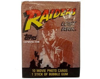 Indiana Jones Raiders of the Lost Ark Vintage Retro Bubble Gum Trading Cards Pack