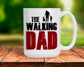 Funny Gift for Dad, Walking Dad Coffee Tea Mug, Anniversary Gift for Men, Coffee Lover Gift Idea, TWD AMC Walker Sleeping Dad