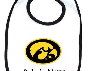 Iowa Hawkeyes Personalized Baby Bib