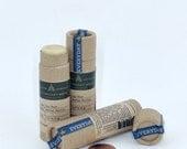 Lip Balm - Herbal Warrior - Minty, Vegan, Moisturizing, Sunshine, Protecting, Paperboard Tube, Zero Waste, Adventure Skincare - 0.30 oz