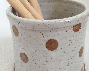 Handmade Pottery Stoneware Utensil Holder