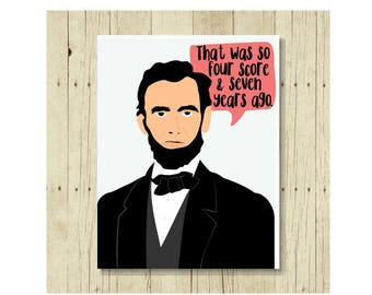 Abraham Lincoln Magnet, Famous Quote Magnet, Refrigerator Magnet, Abraham Lincoln Art, Gifts Under 10, Small Gift, History, President