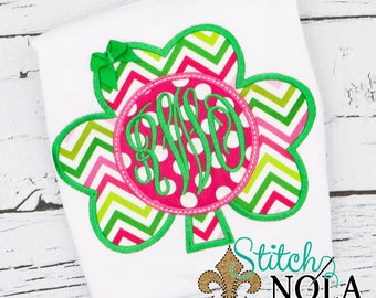 St Patrick's Day Applique, St Pattys Day, Shamrock Applique, Clover Applique, Kids St Patrick's Day Shirt, Shamrock Monogram St. Patrick's