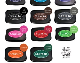 StazOn Ink Pad, Permanent Ink Pad, Many ink color options