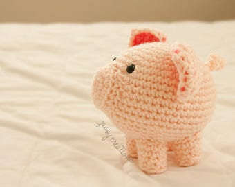 Ultra Cute Pig Amigurumi Toy | Made to Order!