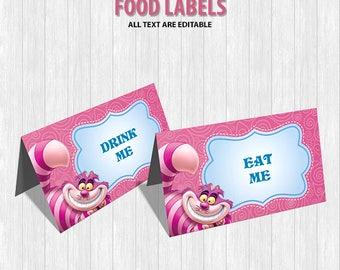 Alice in Wonderland Food Labels