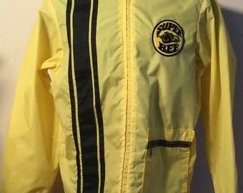 "Original 1969-70 Super Bee ""SWINGSTER"" Label Men's Racing Jacket, Size XL, GreatShape, Cool Big Super Bee Patch On Back, Kustom Kulture!!"