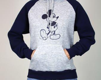 Mickey Mouse Hoodie Sweatshirt Vintage
