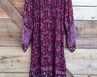 Vintage Starina Cotton Gauze Dress- Medium