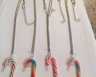 Cute Candy Cane Necklaces!