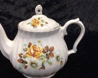 Sadler yellow rose vintage tea cup