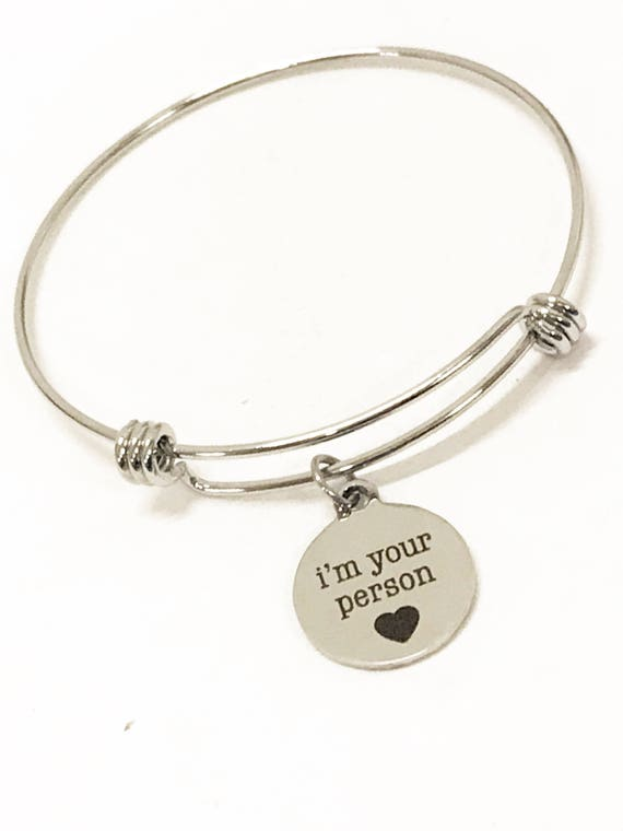 I'm Your Person Bracelet, I'm Your Person Bangle, Wife Bracelet, Girlfriend Bracelet, Valentine Day Gift, I'm Your Person Gift, Wife Gift