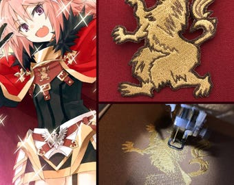 Rider Astolfo [Fate - Apocrypha] chest emblem patch, inspired embroidery // Cosplay prop, ornament