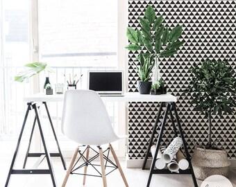 Geometric Wallpaper / Scandinavian Wallpaper / Traditional or Removable Wallpaper