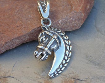 D'Molina ~ Mexican Sterling Silver Detailed Horse Head Pendant