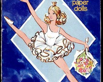 1977 Ballerina Barbie Paper Dolls - Uncut
