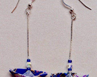 Hand made origami earrings