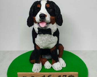 bernese mountain dog wedding cake topper bernese figurine etsy 11267