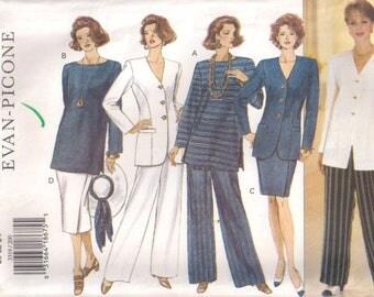 Butterick 3319 dressmaking pattern, Misses' petite jacket top skirt pants Sewing pattern, 20 22 24, 90s nineties 1990s pattern vintage retro
