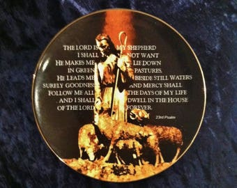 Vintage 23rd Psalm Plate Featuring The Good Shepherd