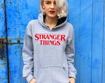 Retro Style Stranger Things Grey Hoodie