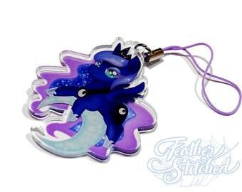 Fanart 2 inch Princess Luna Transparent Acrylic Charm