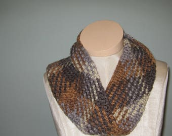 Argyle Cowl Hand Crochet Cowl Planned Pooling Crochet Cowl Hand Crocheted Argyle Cowl