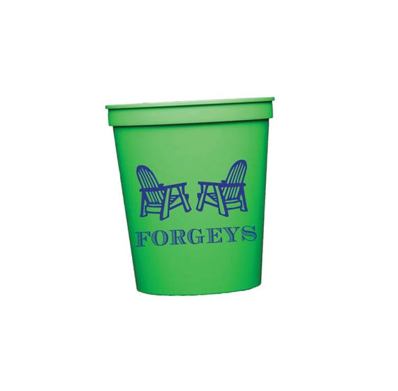 Personalized cups, Adirondack chair