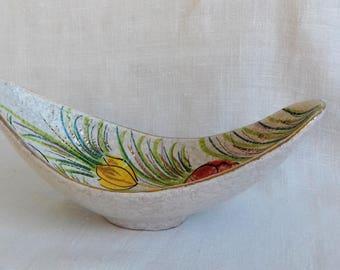 Fratelli Fanciullacci Style Italian Mid Century Ceramic Dish