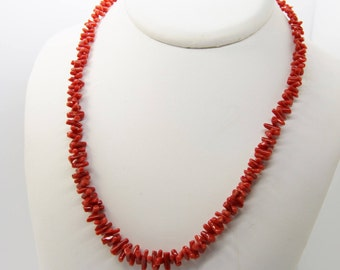 Necklace with red coral from Corsica 1st choice CC 52