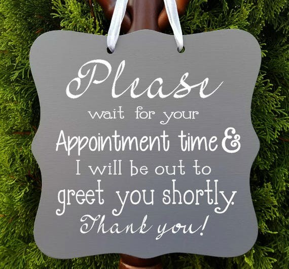 Appointment Sign, Office Sign, Business Sign, Door Sign, Client, Staff, Counseling, Meeting, In Session, Thank You, Greeting