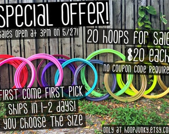 SPECIAL OFFER HOOPS!