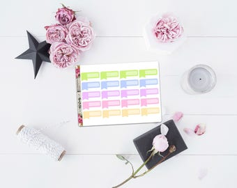 Pastel labels matte planner stickers