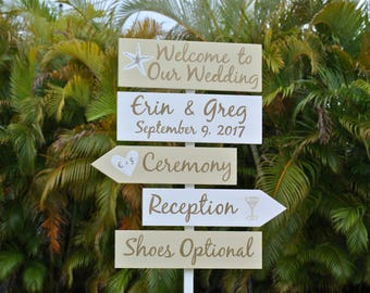 Wedding Welcome Sign, Golden Wedding Decor, Shoes Optional Reception Signage, Gift for Couple