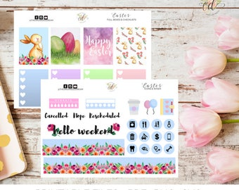 Easter Planner Kit | Easter Mini Kit | Two Dollar Tuesday | Planner Kits | Easter Stickers | Spring Planner Kit | Spring Stickers | Icons