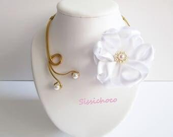 (the creator) Camellia Flower necklace