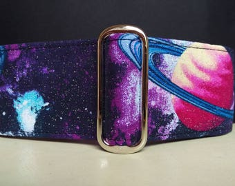 "Martingale Collar - Whippet, Greyhound, Italian Greyhound - 1"", 1.5"" and 2"" width - Out of This World"