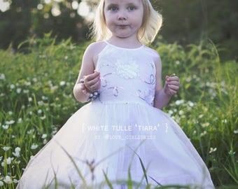 17 Baby Summer White Tulle Dress 'Tiara', Lace, white Tulle Dress,  2yrs, 4yrs, 5yrs, 6yrs