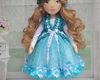 Textile doll, decorative doll, collector dolls, ooak doll, art doll
