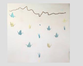 Mobile origami cranes