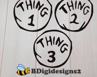 Thing 1, 2, or 3 Heat Press Transfer